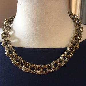 IMAN Chunky Gold Metal Necklace
